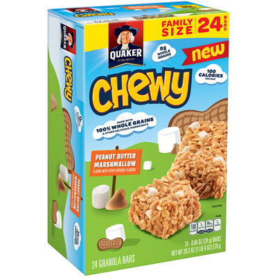 Quaker® Chewy Peanut Butter Marshmallow Granola Bars