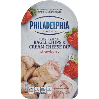 Philadelphia Multigrain Bagel Chips & Strawberry Cream Cheese Dip 2.5 oz. Tray