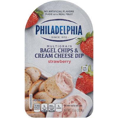 Philadelphia Multigrain Bagel Chips & Strawberry Cream Cheese Dip