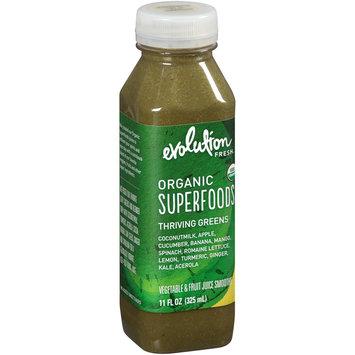 Evolution Fresh™ Organic Superfoods Thriving Greens Vegetable & Fruit Juice Smoothie 11 fl. oz. Plastic Bottle