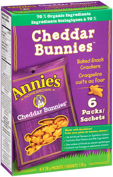 Annie's® Cheddar Bunnies Baked Snack Crackers 6-1 oz. Snack Packs