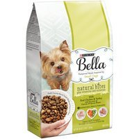 Purina Bella Natural Bites Plus Vitamins and Minerals With Real Chicken & Turkey and Accents of Carrots & Green Beans Adult Dry Dog Food - 3 lb. Bag