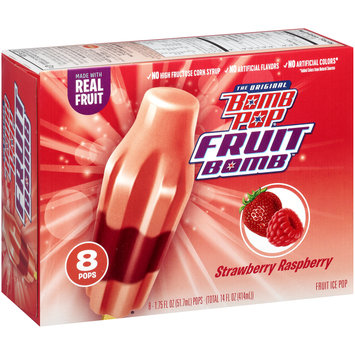 Bomb Pop® Fruit Bomb™Strawberry Raspberry Fruit Ice Pop 8 ct Box