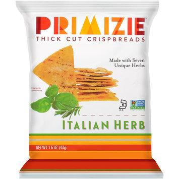 Primizie® Italian Herb Thick Cut Crispbreads 1.5 oz. Bag