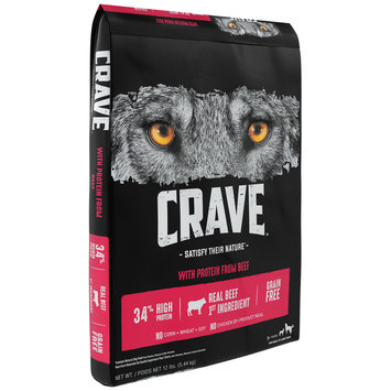Crave™ with Protein from Beef Premium Dog Food 12 lb. Bag