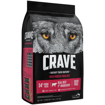 Crave™ with Protein from Beef Premium Dog Food 4 lb. Bag