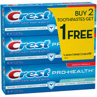 Crest Pro-Health Clean Mint Toothpaste, 3.3 oz, Buy 2 Get 1