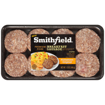 Smithfield® Hometown Original Pork Breakfast Sausage Patties 12 oz. Tray