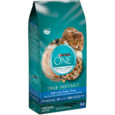 PURINA ONE® True Instinct Natural Grain Free with Real Ocean Whitefish plus Vitamins & Minerals Adult Cat Food