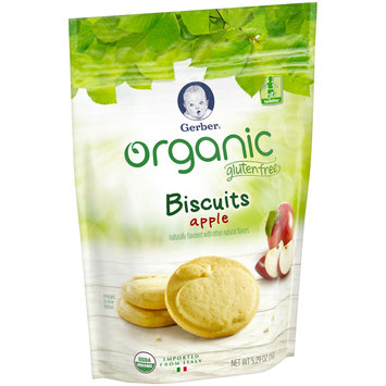 Gerber Organic Gluten Free Apple Biscuits 5.29 oz. Pouch