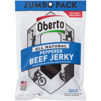 Oberto® All Natural Peppered Beef Jerky 5.85 oz. Pouch
