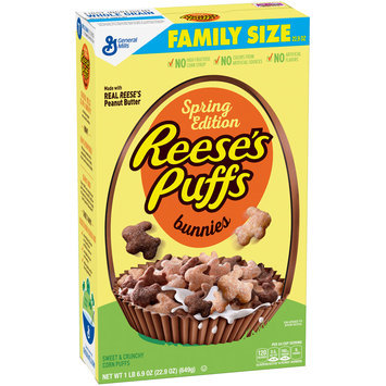 Reese's Spring Edition Puffs Bunnies Cereal 22.9 oz. Box