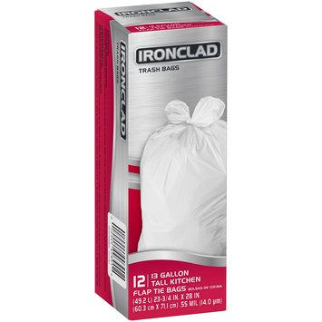Ironclad® 13 Gallon Tall Kitchen Flap Tie Trash Bags 12 ct Box