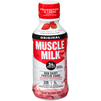 Muscle Milk® Original Strawberries 'N Creme Non Dairy Protein Shake 17 fl. oz. Plastic Bottle