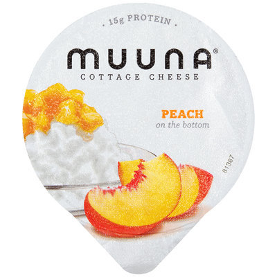 Muuna® 2% Milkfat Peach Cottage Cheese 5.3 oz. Cup
