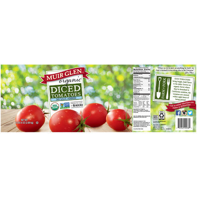 Muir Glen® Organic No Salt Added Diced Tomatoes 102 oz. Can