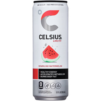Celsius® Live Fit Sparkling Watermelon Dietary Supplement 12 fl. oz. Can