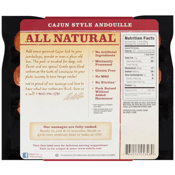 Aidells® Cajun Style Andouille Smoked Sausage Twin Pack 24 oz. Pack