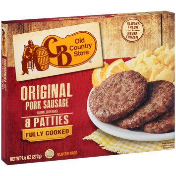 CB Old Country Store® Original Pork Sausage Patties 9.6 oz. Box