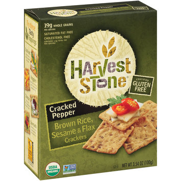 Harvest Stone® Cracked Pepper Brown Rice, Sesame & Flax Crackers 3.54 oz. Box