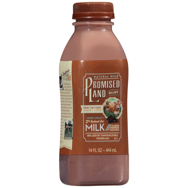 Promised Land Dairy® Midnight Chocolate 2% Reduced Fat Milk