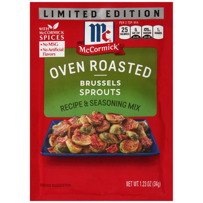 McCormick® Oven Roasted Limited Edition Brussels Sprouts Recipe & Seasoning Mix 1.23 oz. Packet
