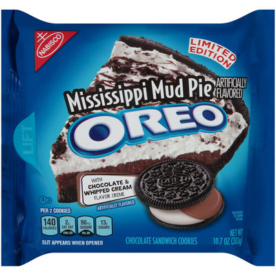Nabisco Oreo Sandwich Cookies Mississippi Mud Pie Chocolate