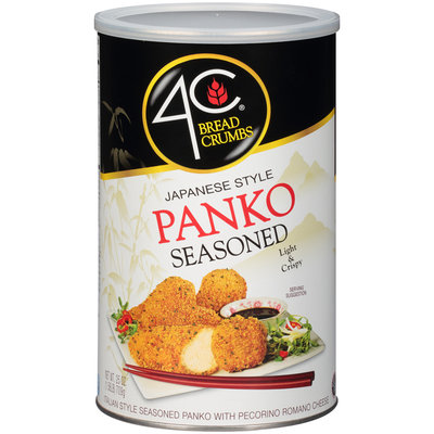 4C® Japanese Style Panko Seasoned Bread Crumbs 25 oz. Canister