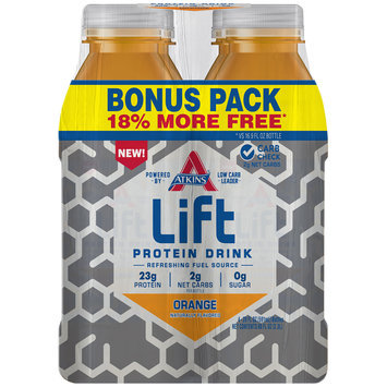 Atkins® Lift Orange Protein Drink Bonus Pack  4-20 fl. oz. Bottles