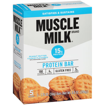 Muscle Milk® Peanut Butter Cookie Flavored Protein Bars 5-1.76 oz. Bars