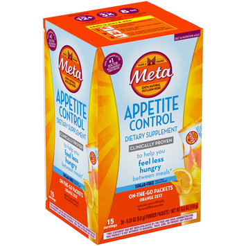 Meta Appetite Control Sugar-Free Orange Zest Dietary Supplement 30–0.20 oz. Packs