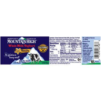 Mountain High™ Vanilla Whole Milk Yoghurt 5.5 oz. Cup