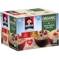 Quaker® Organic Variety Pack Original/Maple Brown Sugar Instant Oatmeal 36.5 oz. Box