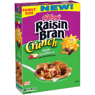Kellogg's® Raisin Bran Crunch® Apple Strawberry Cereal 20.3 oz. Box
