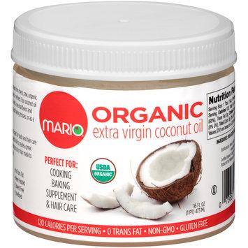 Mario® Organic Extra Virgin Coconut Oil 16 fl. oz. Plastic Jar