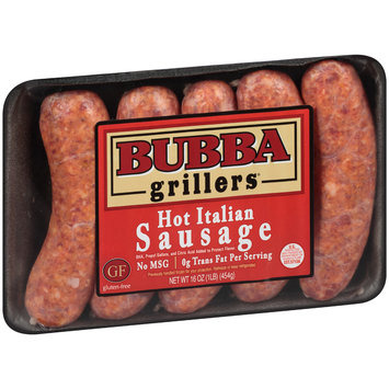 Bubba Grillers® Hot Italian Sausage 16 oz. Pack