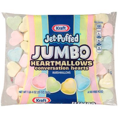 Kraft Jet-Puffed Jumbo HeartMallows® Conversation Hearts Marshmallows 20 oz. Bag