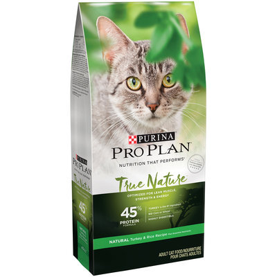 Purina Pro Plan True Nature Adult 45% Protein Formula Natural Turkey & Rice Recipe Cat Food