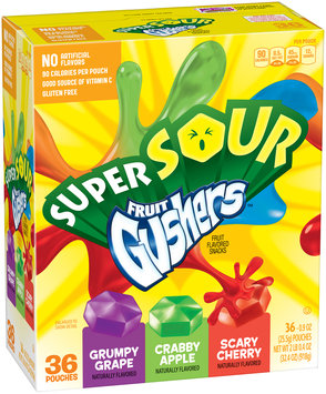 Gushers Super Sour Fruit Flavored Snacks 3 Pouches