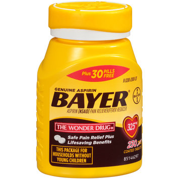 Bayer® Aspirin Pain Reliever/Fever Reducer 325mg Coated Tablets 230 ct Bottle