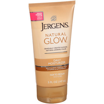 Jergens® Natural Glow® Fair to Medium Skin Tones Daily Moisturizer 5 fl. oz. Tube
