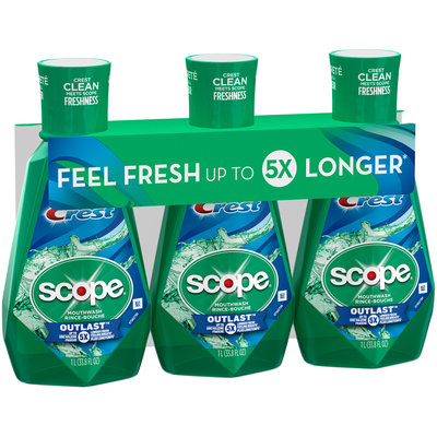 Crest® Scope® Outlast™ Mouthwash 2-33.8 fl. oz. Bottles