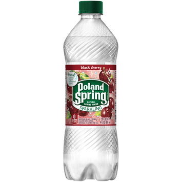 POLAND SPRING Black Cherry Sparkling Natural Spring Water 20oz Bottle