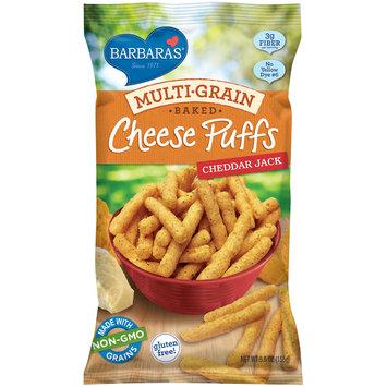 barbara's® multi-grain baked cheddar jack cheese puffs
