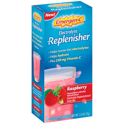 Emergen-C Electrolyte Replenisher Raspberry