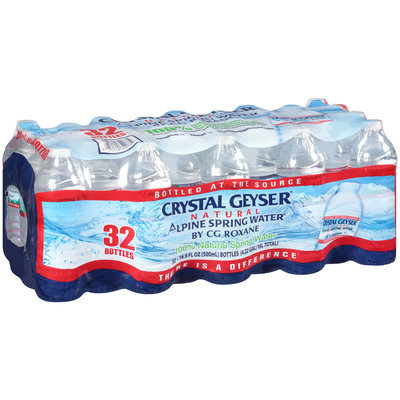 Crystal Geyser® Natural Alpine Spring Water 32-16.9 fl. oz. Bottles