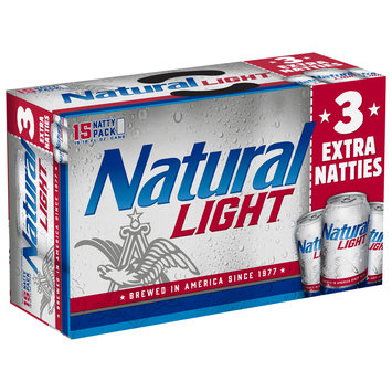 Natural Light® Beer 15-12 fl. oz. Cans
