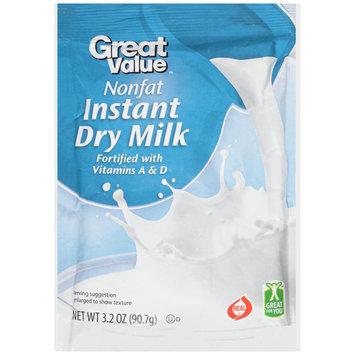 Great Value™ Nonfat Instant Dry Milk 3.2 oz. Pouch