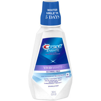 Sparkle Crest 3D White Vivid White Mouthwash, 946 mL