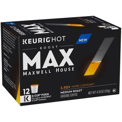 Maxwell House Max Boost Medium Roast Caffeine Coffee K-Cup